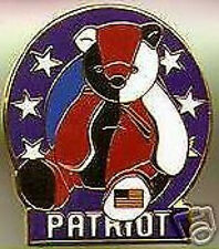 BBOC ty.com TY Beanie Baby PATRIOT the BEAR USA Flag on LEFT Foot LAPEL PIN