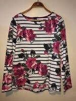 Ladies Joules Top BNWT Long Sleeved Size 10 Jersey Floral