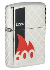 Zippo 49272 600th Million Collectible High Polish Chrome Lighter - RARE