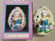 Windsor Collection Bunny Collectible Easter Bunny Egg *Happy Easter