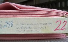 Vintage Poly Cotton Flax Blend Salmon Melon Fabric 45 inches Wide BTY