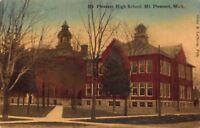 Postcard Mt. Pleasant High School in Mt. Pleasant, Michigan~119719