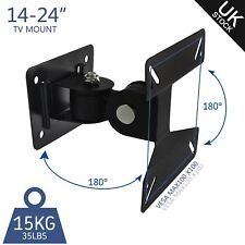 Rotating LCD Monitor TV Mount Wall Bracket Swivel For 14 15 17 19 22 24