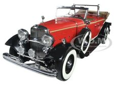 1932 FORD LINCOLN KB TOP DOWN RED 1/18 DIECAST MODEL CAR BY SUNSTAR 6166