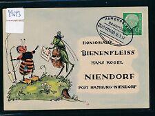29643) Bahnpost Ovalstempel Hamburg - Kiel ZUG 02500e, Karte 1957