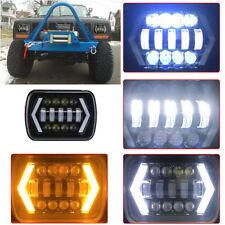 1PC 55W 5x7'' 7x6'' LED Headlight Hi-Lo Beam H4 LED DRL For Jeep Cherokee XJ YJ