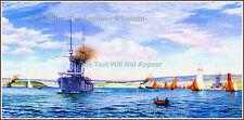 GRAND PRINT: Plymouth Harbor: Norman (Rodney) Wilkinson RMS Titanic, 1912