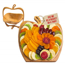 Dried Fruit Gift Basket Tray Turns into Basket, Healthy Gourmet Snack Box, Food