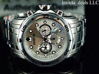 Invicta Men's 48mm Pro Diver SCUBA Chronograph SILVER DIAL All Silver Tone Watch