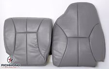 98-02 Dodge Ram 3500-Driver Complete Bottom & Lean Back Leather Seat Covers Gray
