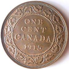 1915 CANADA CENT - AU/UNC GEM w/RED Hints - FREE SHIP - HV34