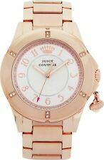 122 Juicy Couture Ladies Watch Rich Girl With Charm Rose Gold Bracelet 1901201
