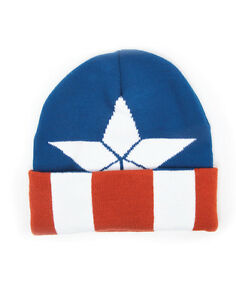 MARVEL COMICS CAPTAIN AMERICA STAR COSTUME STYLED BEANIE HAT (OFFICIAL)