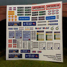 1 76 HO OO 00 Gauge Model Railway Modern Safety Garage Notices Signs Accessories
