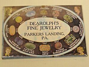 Deardolph's Fine Jewelry celluloid advertising mirror birthstone vintage