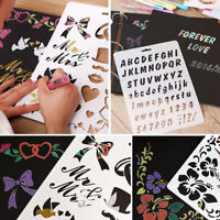 Painting Scrapbooking Paper Card Letter Alphabet Number Layering Stencils Craft