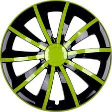 4x Premium Diseño Tapacubos parabrisas GRAL 15 pulgadas #79 Verde Negro