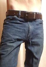 WRANGLER - Mens size 35 x 34 - BLUE JEANS Casual Pants Strait Cut 100% COTTON