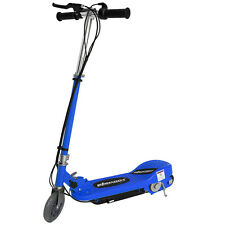 Kids Electric Scooter Blue Escooter 24v Ride On Battery Childrens Toy Fast Bike