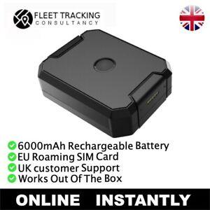 6000mAh Long Life Car Asset Caravan GPS Tracker Rechargeable Tracking Device
