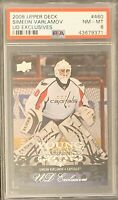 2008 2009 UPPER DECK Simeon Varlamov YOUNG GUNS EXCLUSIVES RC ROOKIE PSA 8 #/100