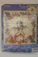 Candamar Tidings of Joy Angel Picture/Pillow Embellished Cross Stitch Kit  #5142