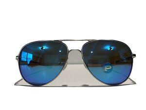 New! Oakley Elmont M Chrome Sapphire Polarized OO4119-0758 Sunglasses