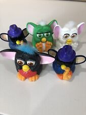 1998 1999 McDonalds Happy Meal Plastic FURBY Toys LOT of 5