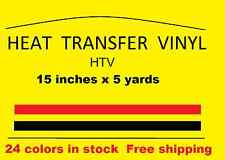 "Heat Transfer vinyl white 15 "" x 5 yards  Brand new Material HTV Free Shipping"