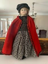 New listing Fantastic! 13 Inch Antique English Mad Alice Wax Doll Cabinet Size