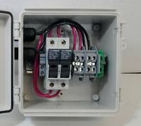 Solar Panel Combiner Box - 2-String Fused PV Solar Power Combiner - Pre-wired