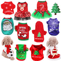 Pet Clothes Santa Christmas Gifts Dog Cat Jacket Winter Coat Shirt Puppy Apparel
