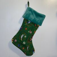 Disney Green Tiki Bird Handmade Christmas Stocking Holiday NEW 2020 USA
