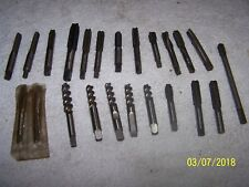 23 PC LOT OF END MILL CUTTERS - MACHINIST LATHE TOOL - 7/16, 3/8 - 9/16