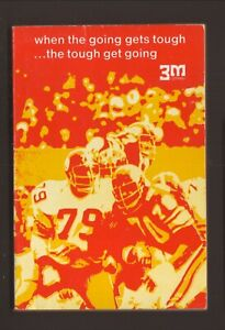 3M/Scotch Data--1975 Pro & College Football Guide/Schedule Booklet