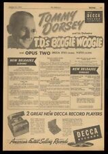 1950 Tommy Dorsey photo Decca Records trade print ad