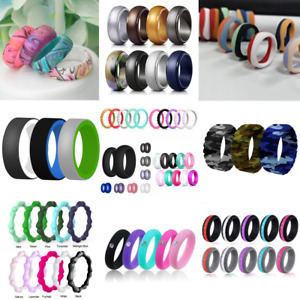 Wedding Engagement Silicone Rings Athletic Jewelry Women Men Gift Jewelery Rings