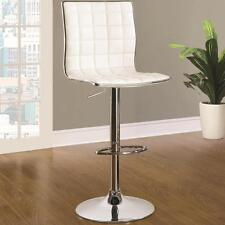 Cream and Chrome Adjustable Swivel Bar Stool Chair by Coaster 122089 - Set of 2