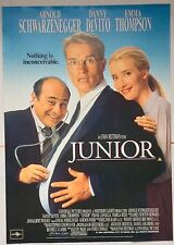 JUNIOR / ORIGINAL VINTAGE LARGE VIDEO FILM POSTER / ARNOLD SCHWARZENEGGER