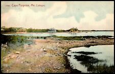 Oas-Cny 11980 Postcard Posted 1908 Cape Porpoise Cottages