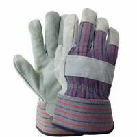 12 Pairs Leather Palm Work Gloves Non-Disposable Industrial Grade Size: X-Large