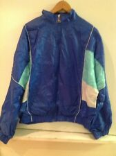 LE COQ SPORTIF Blue WINDBREAKER Mesh Lined JACKET Full Zip WOMENS SZ M Medium
