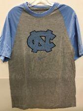 NCAA North Carolina Tar Heels Grey Heathered Raglan Short Sleeve T-Shirt, XL
