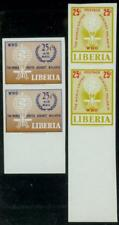 Liberia 1962 Anti-Malaria set/trial color proof pairs