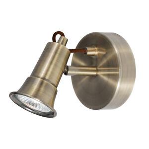 Searchlight Eros 1 Light Antique Brass Finish Traditional Halogen Wall Spotlight