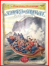 IL ROMANZO D'AVVENTURE N 41 La Scomparsa del Golden Wave PG JANSEN Sonzogno 1927