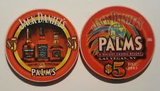 $5 Las Vegas Palms Jack Daniel's Tennessee Whiskey Casino Chip - Uncirculated