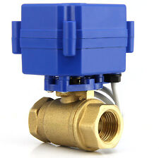 "Brass Motorized Ball Valve G3/4"" DC12V Electric Ball Valve CR-05 free shipping"