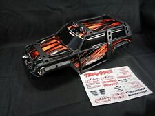 NEW Traxxas 1/10 Summit Factory Orange Body Shell with ExoCage & Decal Sheet