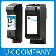 2 Generic Ink Cartridge Set for HP 15 & 78 Deskjet 940c 916c 3810